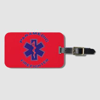 Etiqueta De Bagagem Paramédico do sapador-bombeiro