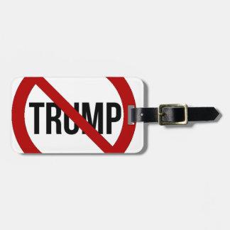 Etiqueta De Bagagem Pare o Anti-Trunfo 2016 de Donald Trump