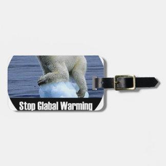 Etiqueta De Bagagem Pare o aquecimento global agora