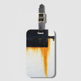 Etiqueta De Bagagem Parede oxidada do bar