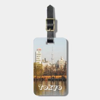 Etiqueta De Bagagem Parque de Ueno em Tokyo, Japão