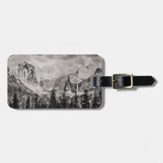 Etiqueta De Bagagem Parque de Yosemite no inverno