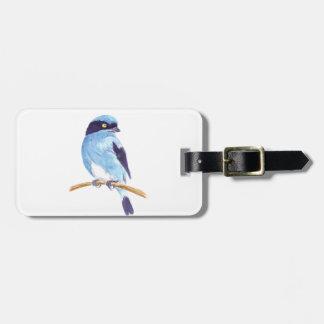 Etiqueta De Bagagem Pássaro azul