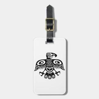 Etiqueta De Bagagem Pássaro nativo do totem