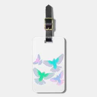 Etiqueta De Bagagem Pássaros Pastel
