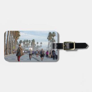 Etiqueta De Bagagem patinagem à praia de Veneza