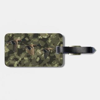 Etiqueta De Bagagem Pato militar exterior do pato selvagem da