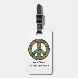Etiqueta De Bagagem Paz colorida de Camo