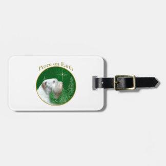 Etiqueta De Bagagem Paz de Sealyham Terrier na terra