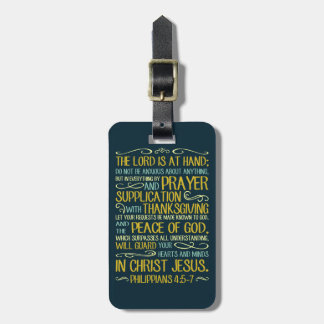 Etiqueta De Bagagem Paz do 4:5 dos Philippians do deus - 7