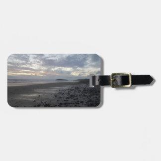 Etiqueta De Bagagem Pebble Beach, Tag da bagagem da baía de Rhossili