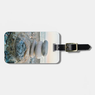 Etiqueta De Bagagem Pedras da praia do zen