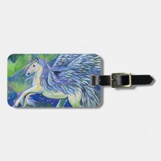 Etiqueta De Bagagem Pegasus na luz do norte