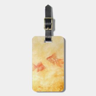 Etiqueta De Bagagem Peixe dourado dois