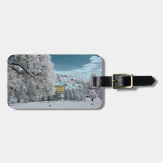 Etiqueta De Bagagem Pemberley no Tag da bagagem do inverno