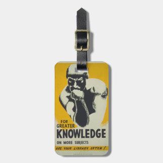 Etiqueta De Bagagem Pensador WPA retro do conhecimento do poster da