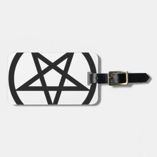 Etiqueta De Bagagem Pentagram corajoso