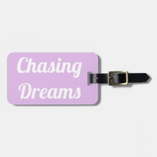 Etiqueta De Bagagem Perseguindo o Tag da bagagem dos sonhos