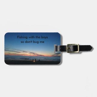 Etiqueta De Bagagem Pesca ida com o Tag/etiqueta da bagagem dos