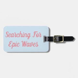 Etiqueta De Bagagem Pesquisa pelo Tag épico da bagagem das ondas
