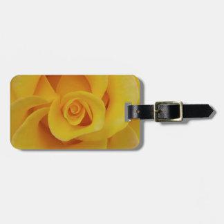 Etiqueta De Bagagem Pétalas cor-de-rosa amarelas românticas