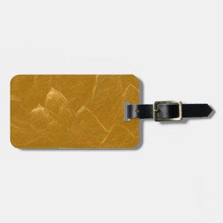 Etiqueta De Bagagem Pétalas douradas do ouro da flor de LOTUS