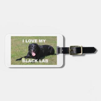 Etiqueta De Bagagem PIC preto de w do amor do laboratório