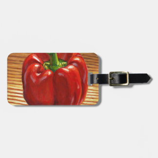 Etiqueta De Bagagem Pimenta de Bell vermelha
