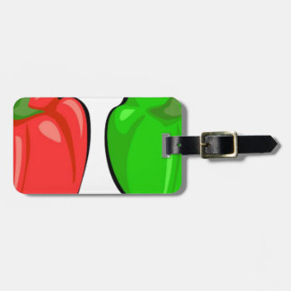 Etiqueta De Bagagem Pimentas de Bell coloridas