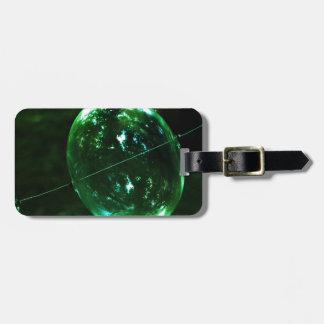 Etiqueta De Bagagem Pingo de chuva do vidro verde