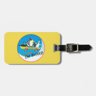Etiqueta De Bagagem Pinguins a bordo do Tag da bagagem