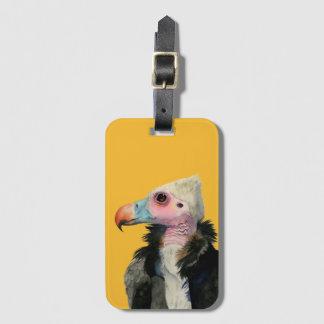 Etiqueta De Bagagem Pintura Branco-Dirigida da aguarela do abutre