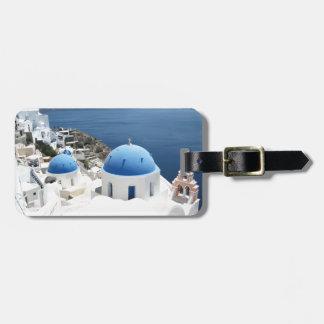 Etiqueta De Bagagem Piscina de Santorini