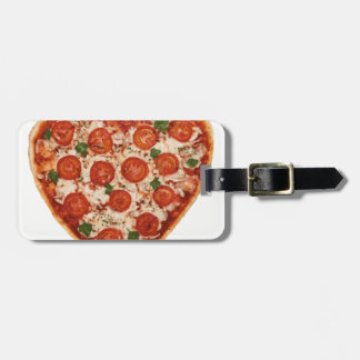 Etiqueta De Bagagem pizza dada forma coração
