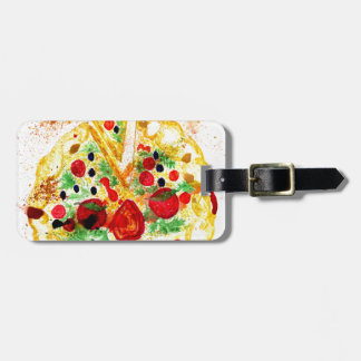 Etiqueta De Bagagem Pizza saboroso