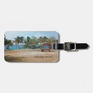 Etiqueta De Bagagem Playa Giron - praia - Tag da bagagem