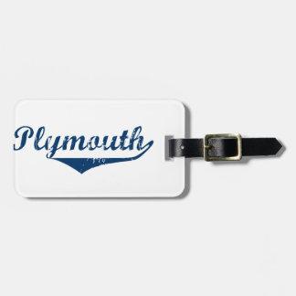Etiqueta De Bagagem Plymouth