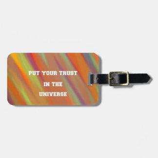 Etiqueta De Bagagem Pnha sua confiança no universo