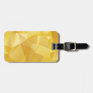 Etiqueta De Bagagem Polígono amarelo