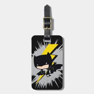 Etiqueta De Bagagem Pontapé do relâmpago de Chibi Batman
