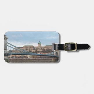 Etiqueta De Bagagem Ponte Chain com castelo Hungria Budapest de Buda