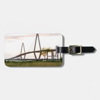 Etiqueta De Bagagem Ponte de Charleston South Carolina - rio do