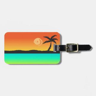 Etiqueta De Bagagem Por do sol da ilha