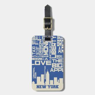 Etiqueta De Bagagem Poster da tipografia da Nova Iorque