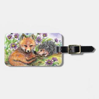 Etiqueta De Bagagem Poucos Fox e ouriço