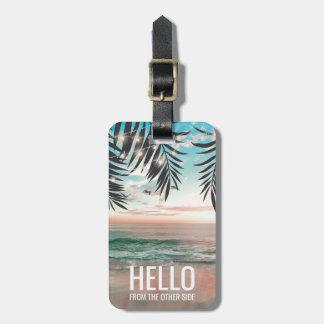 Etiqueta De Bagagem Praia tropical viagem engraçado personalizado