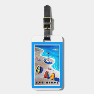 Etiqueta De Bagagem Praias do Tag da bagagem de France