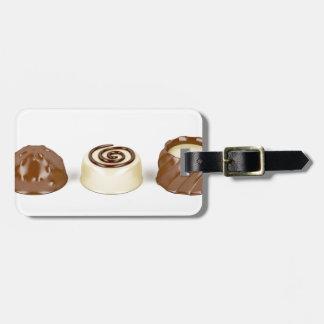 Etiqueta De Bagagem Pralines do chocolate