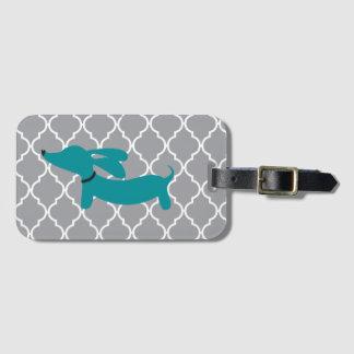 Etiqueta De Bagagem Presente azul do Tag do saco da bagagem do