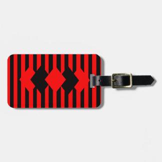 Etiqueta De Bagagem Preto do rubi personalizado